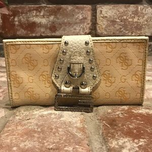 Used GUESS wallet with rhinestone embellishment